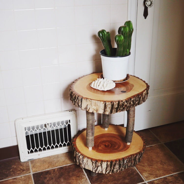 two tiered end table