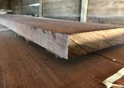 Raw hardwood board