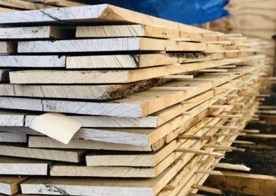 Raw hardwood boards
